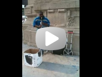Clarinetist Michael Jackson Tribute.Michigan Ave @ the Chicago River.